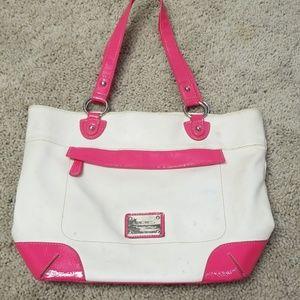 Nine West Pink and White Shoulder Bag